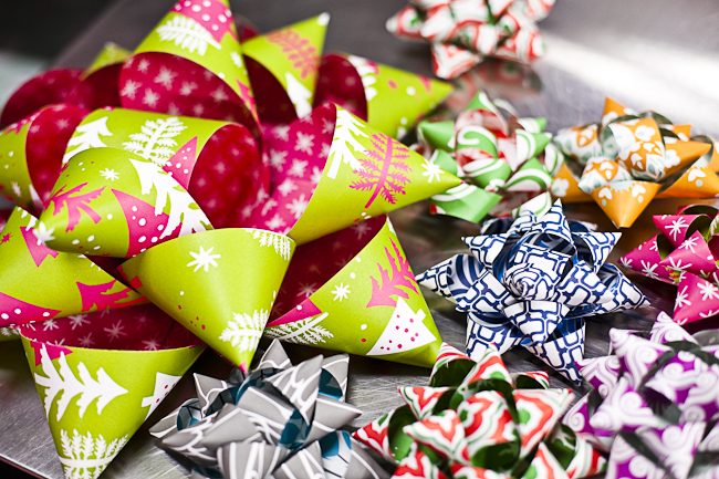 A DIY tutorial on how to make a gift bow with Smock's eco gift wrap