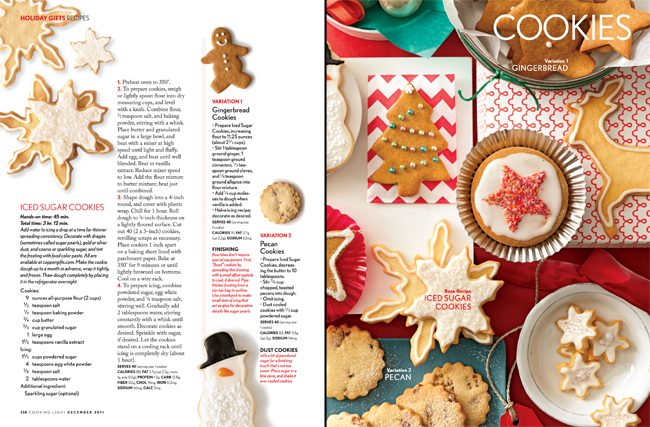Cooking Light featured Smock boxes and letterpress cards in their December 2011 edition