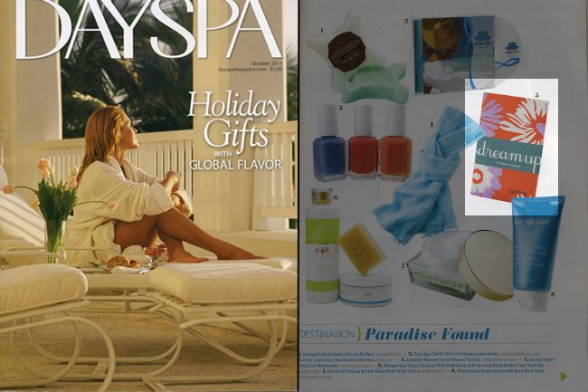 Smock's Everyday products were featured in the Dayspa 2011 holiday guide