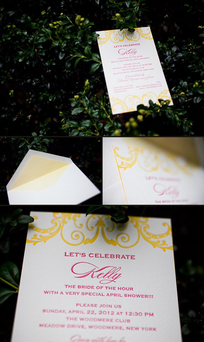 Randi from the Printed Page was selected as a design contest honoree for these bridal shower invitations