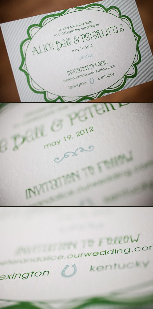 This save the date set from Social Graces was an honoree in the 1st Smock Design Contest for 2012