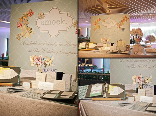 At a recent luxury wedding showcase, the Wedding Company in Hong Kong put on a wonderful display and included an entire booth dedicated to Smock!