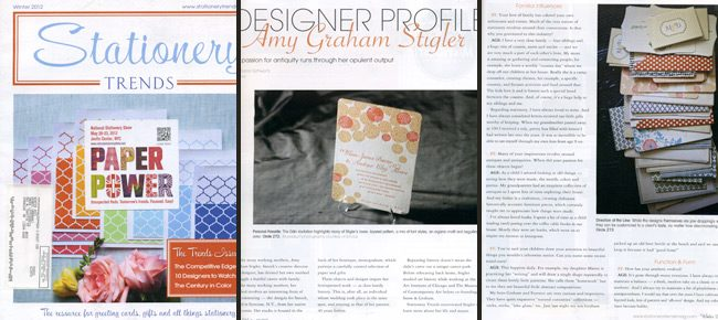 Stationery Trends magazine did a wonderful Designer Profile on Smock's Creative Director, Amy Graham Stigler