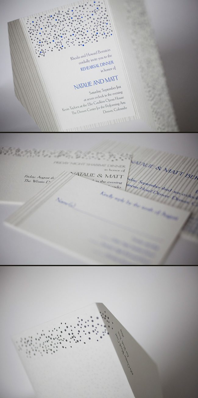 custom letterpress wedding invitations