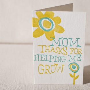 Mother's Day Grow letterpress card