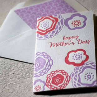 Mother's Day Mums letterpress card