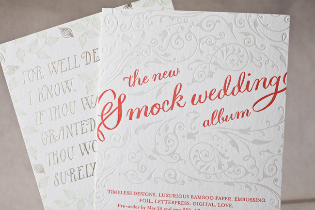 Smock letterpress printed and foil stamped these invitations for the 2013 national staitonery show
