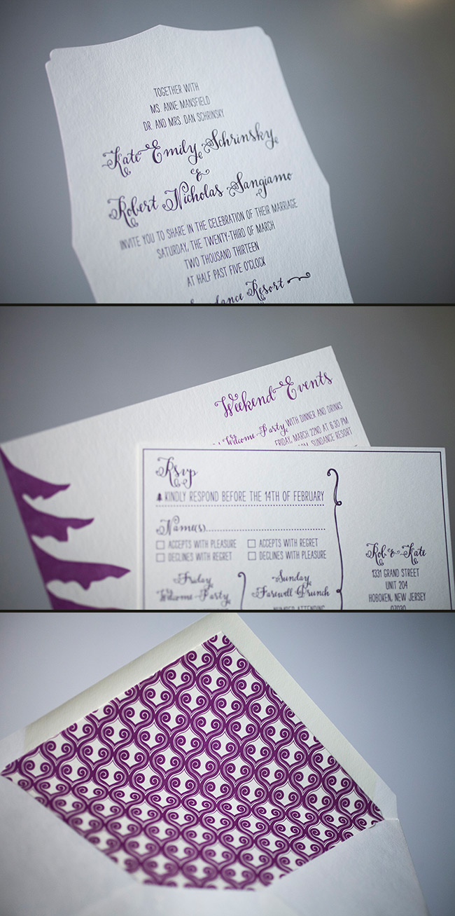 Create a unique wedding invitation with Smock's die cuts!