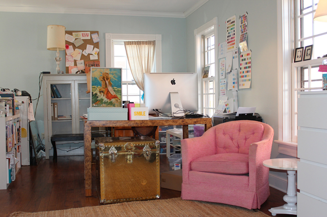 Check out the design studio of Smock's Creative Director, Amy Graham Stigler