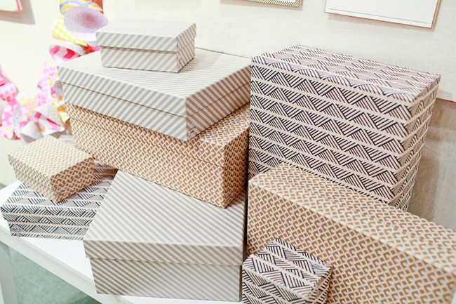 kraft keepsake boxes from Smock at the National Stationery Show
