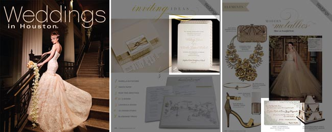 Smock invitations featured in Weddings in Houston