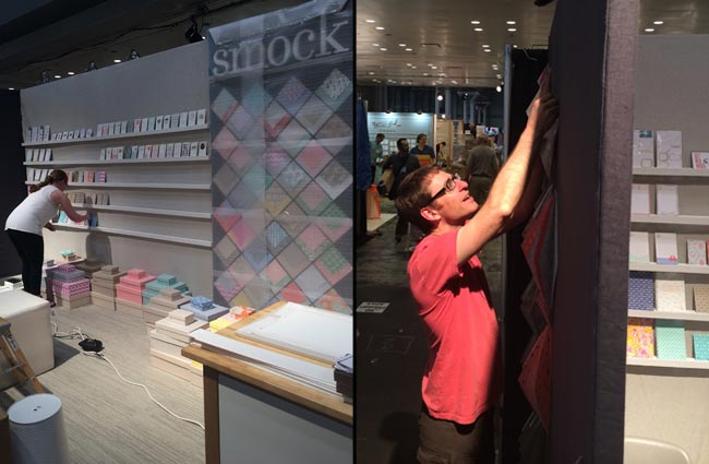 2014 National Stationery Show - Smock booth setup