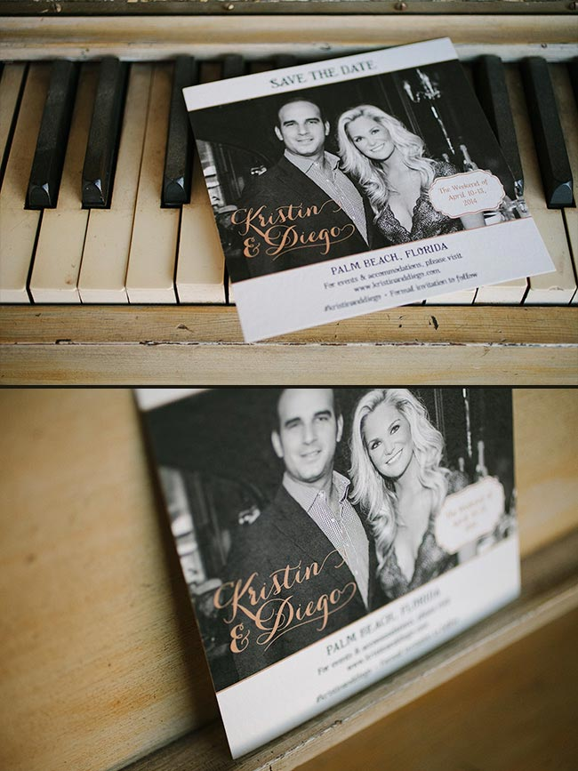 Custom photo save the dates - digitally printed by Smock